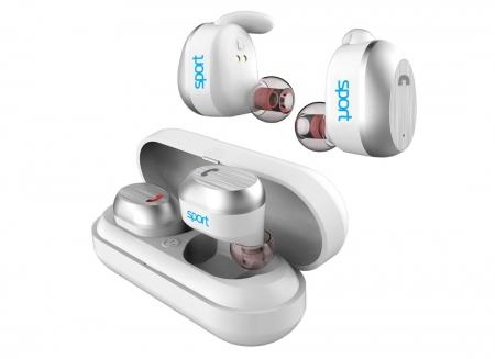 Casti true wireless Hi-Fi Elari NanoPods Sport cu microfon si cutie incarcare