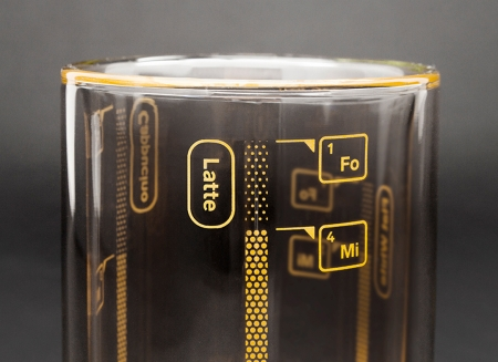 Pahar cu proportii pentru cafea