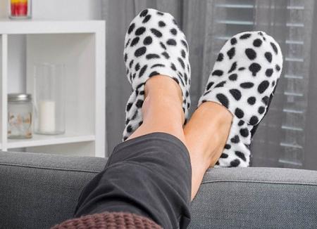Papuci cu incalzire la microunde Dalmatian