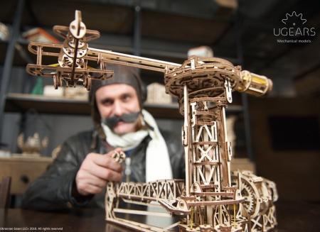 Puzzle 3D Model Aviator din lemn Ugears