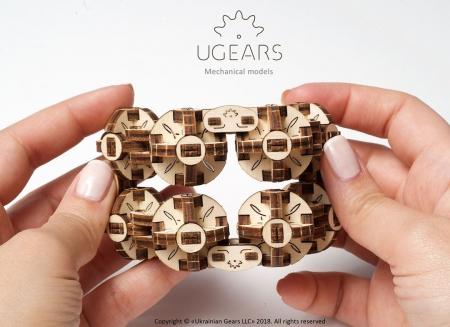 Puzzle 3D Model Flexi-cubus din lemn Ugears