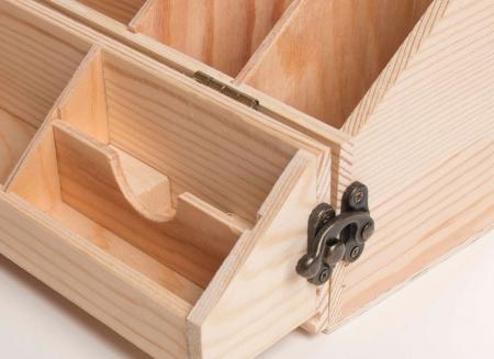 Suport din lemn multifunctional pentru vin