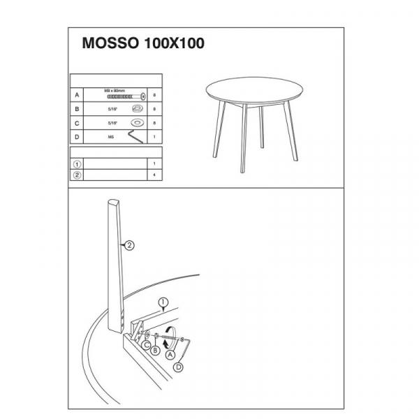 Masa living SL Mosso II alb - stejar