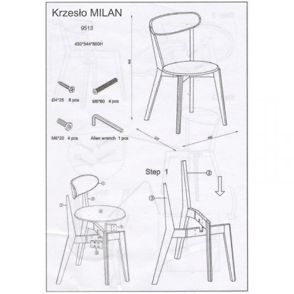 Scaun living SL Milan alb