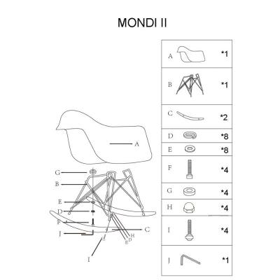 Balansoar SL Mondi II alb