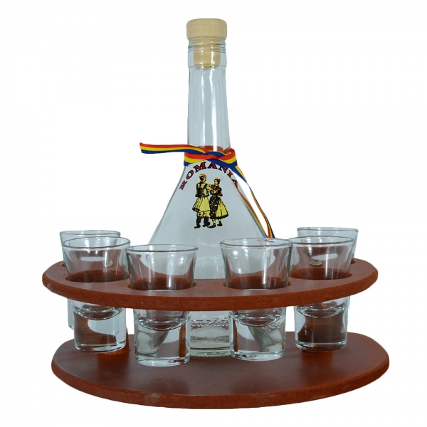 Minibar Cu Sticla Si 6 Pahare Tuica