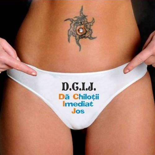 Chiloti Cu Mesaj Amuzant D.C.I.J. 0