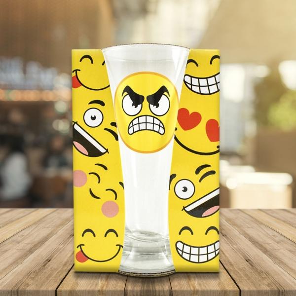 Pahar Bere Emoji Angry 250 ML