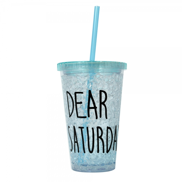 Pahar De Vara Cu Pai Dear Saturday #2 450 ML – Mentine Bautura Rece 1