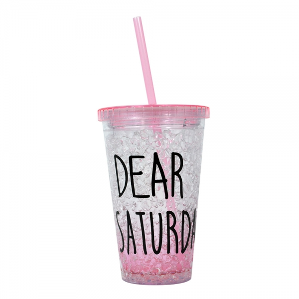 Pahar De Vara Cu Pai Dear Saturday #4 450 ML – Mentine Bautura Rece