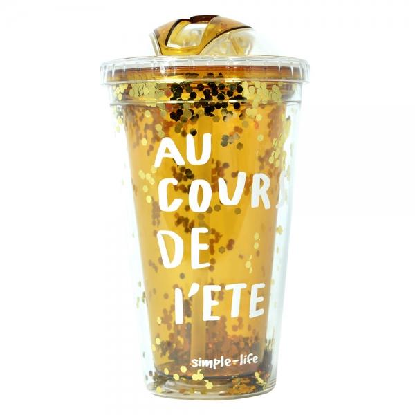 Pahar De Vara Cu Pai Confetti Au Cour De L'ete 450 ml 1