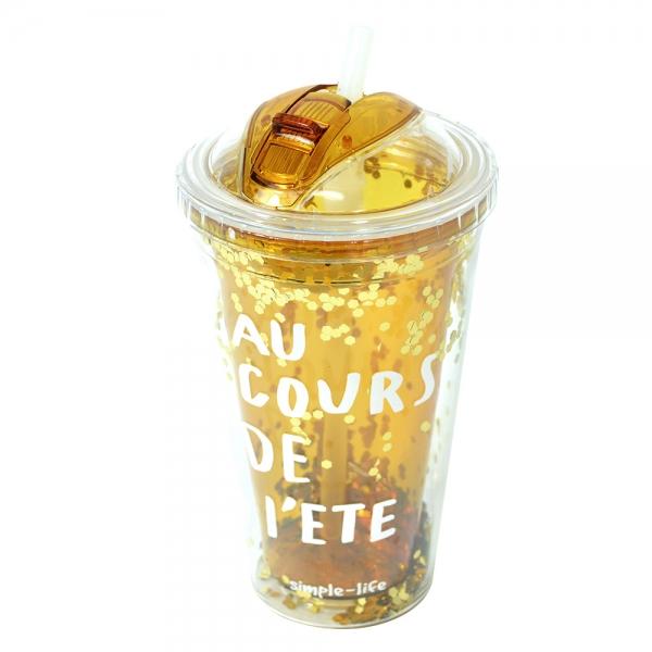 Pahar De Vara Cu Pai Confetti Au Cour De L'ete 450 ml 2