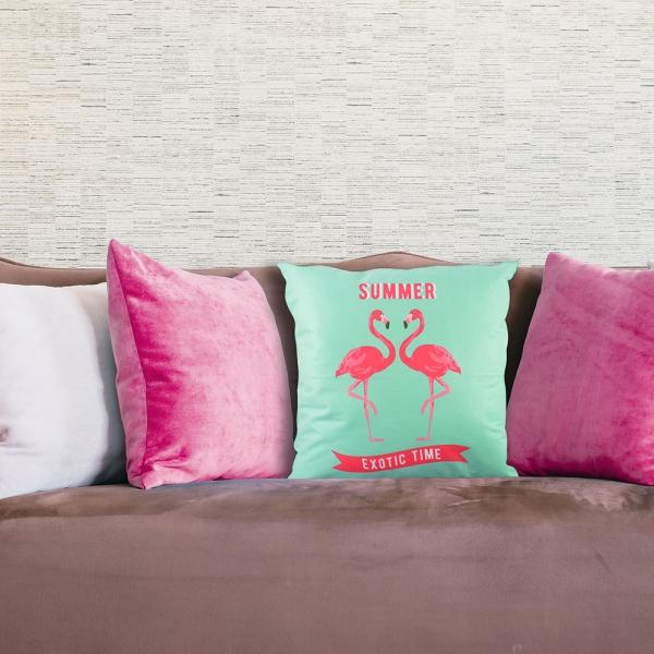 Perna Decorativa Flamingo Summer Exotic Time 45X45 CM 1