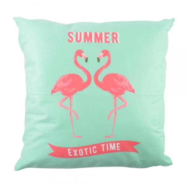 Perna Decorativa Flamingo Summer Exotic Time 45X45 CM 2