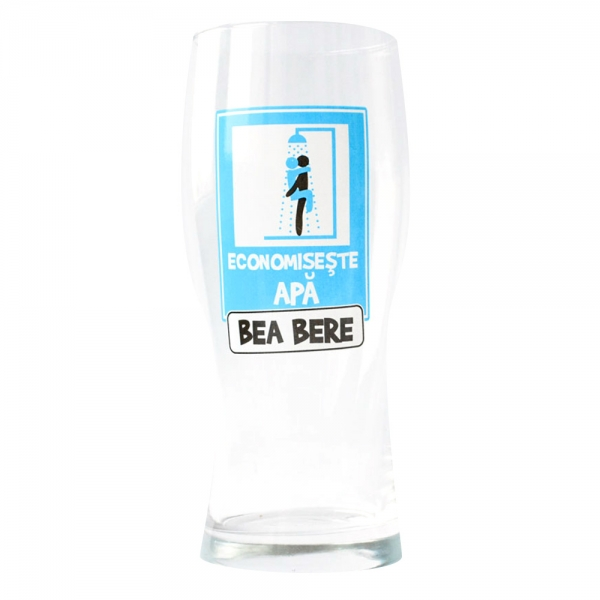Pahar Bere Economiseste Apa! Bea Bere 400 ML 2