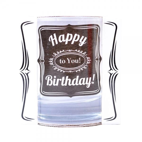 Pahar Whisky Happy Birthday To You! 200 ML 3
