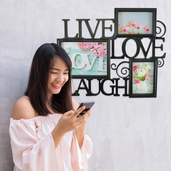Rama Foto Live, Laugh, Love 45X38 CM