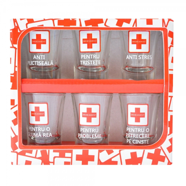 Set 6 Pahare Shot-uri Medicament #1 35 ML
