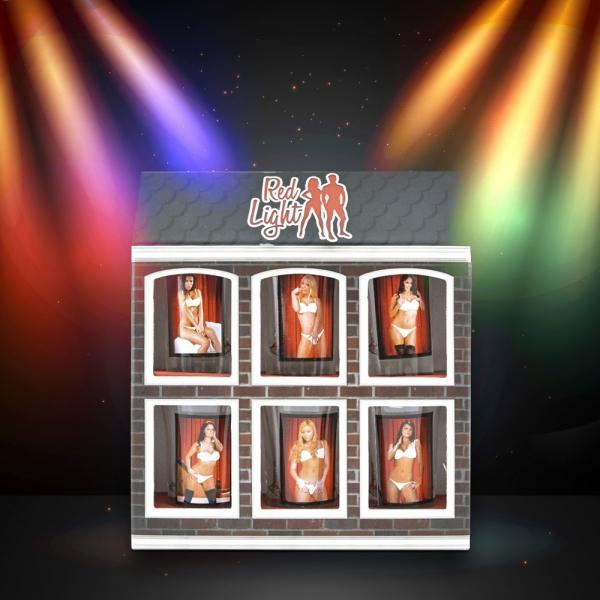 Set 6 Pahare Shot-uri Red Light Woman 35 ML