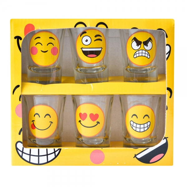 Set 6 Pahare Shot-uri Funny Emoji 35 ML 3