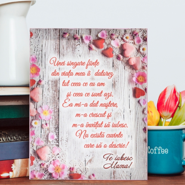 Tablou Canvas Te Iubesc, Mama! #1 20X15 CM 1