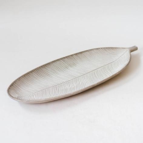 Tavita frunza Gri - 14.5x41 cm 0