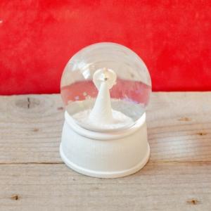 Glob sticla alb - 9 cm