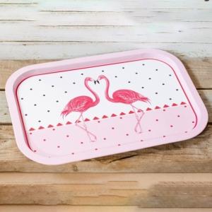 Tava din metal Flamingo #1 - 40x29cm