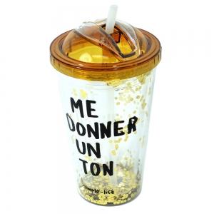 Pahar De Vara Cu Pai Confetti Me Donner Un Ton 450 ml2