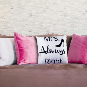 Perna Decorativa Mrs. Always Right 45X45 CM0
