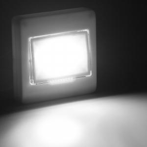 Set 2x Intrerupator LED Cu Lanterna, Lampa De Veghe – Cu Magnet Si Baterii0