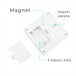 Set 2x Intrerupator LED Cu Lanterna, Lampa De Veghe – Cu Magnet Si Baterii2