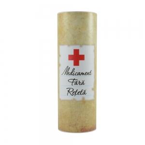 Set Sticla De Vin 187 ML + Cutie Cadou - Medicament Fara Reteta- 22 CM