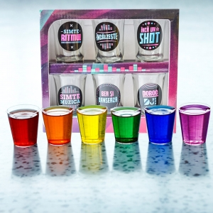 Set 6 Pahare Shot-uri Disco Shot 35 ML