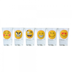 Set 6 Pahare Shot-uri Funny Emoji 35 ML2