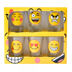 Set 6 Pahare Shot-uri Funny Emoji 35 ML3