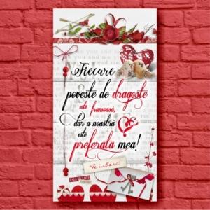 Tablou Poveste De Dragoste 50x27 CM