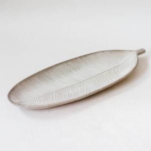 Tavita frunza Gri - 14.5x41 cm