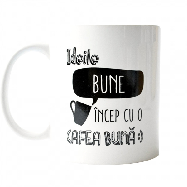 Cana Ideile Bune Incep Cu O Cafea Buna 250 ML