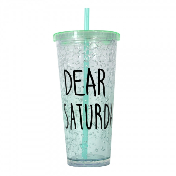 Pahar De Vara Cu Pai Dear Saturday #3 650 ML – Mentine Bautura Rece