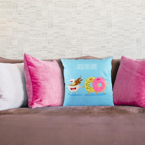 Perna Decorativa Amigos Para Siempre 45X45 CM