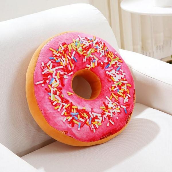 Perna Decorativa Donut Roz 35X35 CM