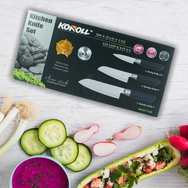 Set 3 Cutite Konoll - Otel Inoxidabil