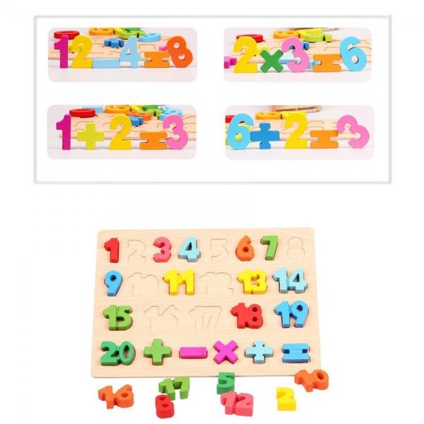 Puzzle Interactiv Operatii Matematice - Lemn