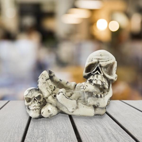 Scrumiera Schelet Craniu 13x8 CM