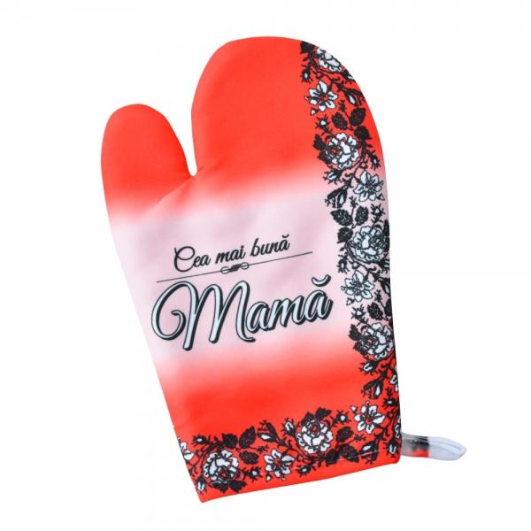 Set Manusa Antitermica De Bucatarie + Suport Oala - Cea Mai Buna Mama #1