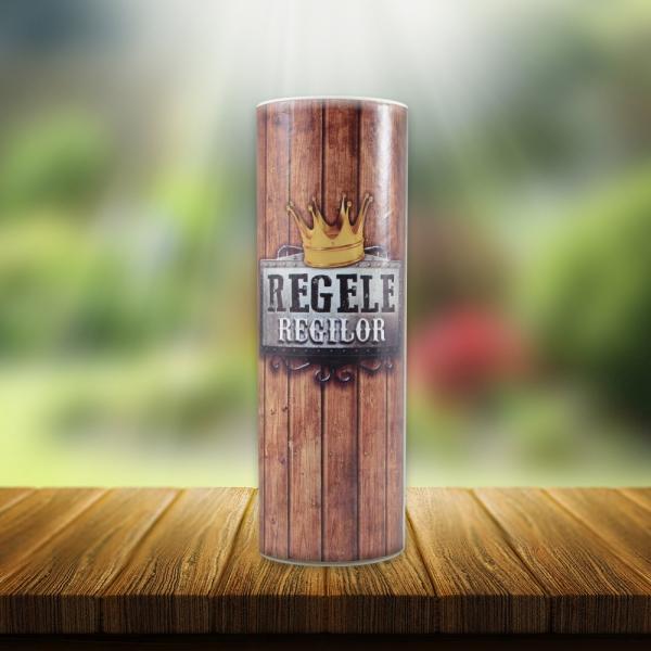 Set Sticla De Vin 187 ML + Cutie Cadou - Regele Regilor - 22 CM