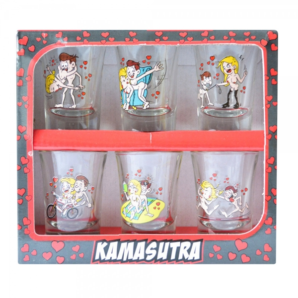 Set 6 Pahare Shot-uri Kamasutra #1 35 ML