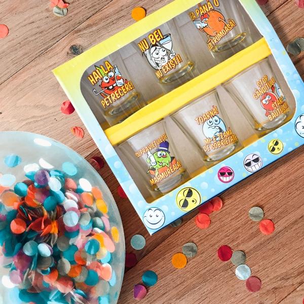 Set 6 Pahare Shot-uri Funny Party #1 35  ML