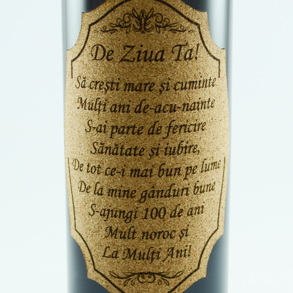 Sticla de vin Rosu La multi ani! - 750 ml